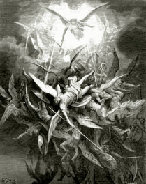 Lucifer cast out of heaven- Dore