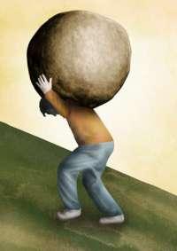 carrying-boulder
